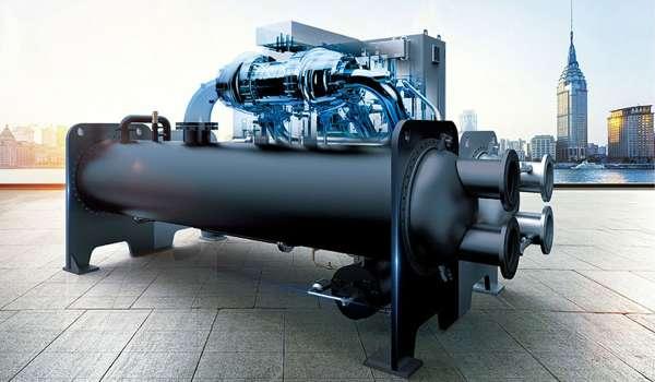 美的离心式中央空调单轴直驱技术