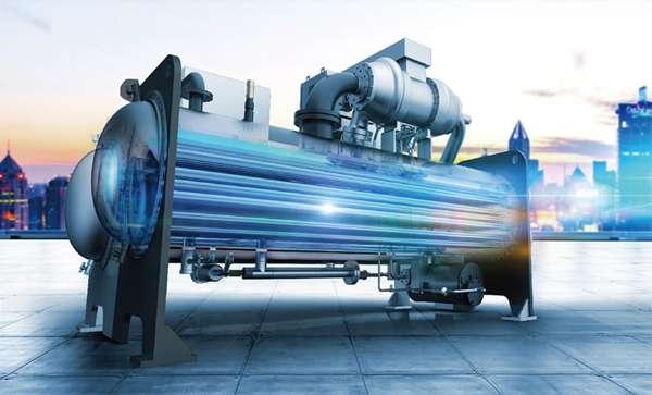 美的离心机组全降膜蒸发技术
